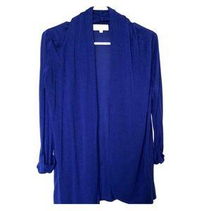 Joan Vass Cardigan Blue Size M Open Front